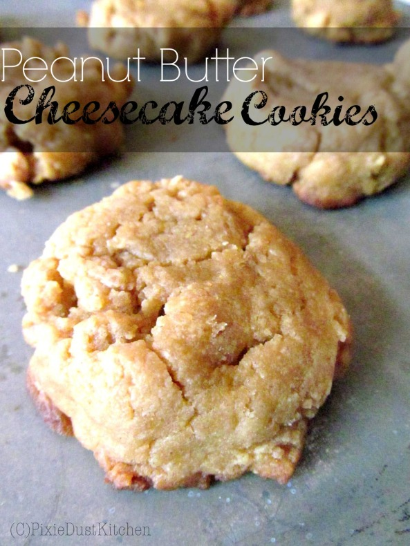 Peanut Butter Cheesecake Cookies on pixiedustkitchen.com. These cookies use cream cheese instead of butter, adding a thicker, smoother texture.